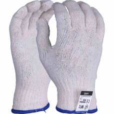 Mixed Fibre Off White Gloves