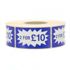 2 for £10 Long Flash Label