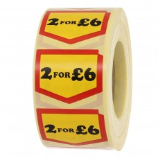 2 for £6.00 Chevron Label