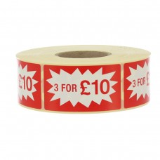 3 for £10 Label
