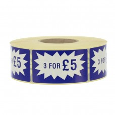 3 for £5 Long Flash Label