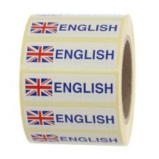 English Flag Label