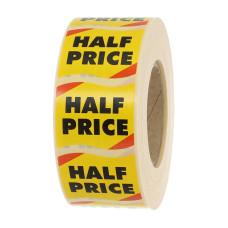Half Marked Price Label
