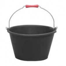 BLACK FLARED BUCKET 15L with handle