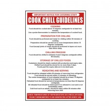 Cook Chill Guidelines Notice 300x200mm