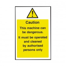 Caution this Machine Can Be Dangerous Safety Sign 300x200mm