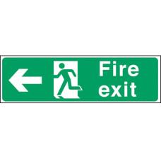 Fire Exit Man Arrow Left Self-adhesive Vinyl 150x450mm
