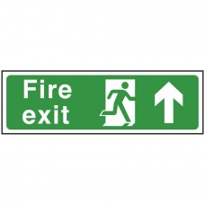 Fire Exit Man Arrow Up Self-adhesive Vinyl 150x450mm