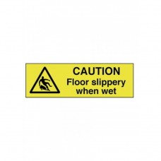 Caution Floor Slippery When Wet Self Adhesive Vinyl 30x100mm Pack of 5