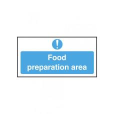 Food Preparation Area Notice Self Adhesive Vinyl 100x200mm