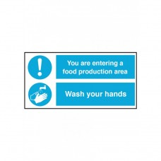 Food Production Area / Wash Your Hands Self Adhesive Vinyl 300x300mm