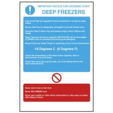 Deep Freezer Temperature Notice Self Adhesive Vinyl 300x200mm