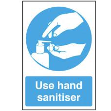 Use Hand Sanitiser text and symbol Self Adhesive Vinyl 300x200mm