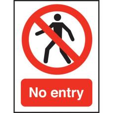 No Entry Sign Polypropylene 150x200mm