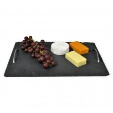 Slate Tray Chrome Handles 40cm x 28cm