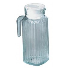 Glass Ribbed Jug &Lid 1.2Ltr/2.5pint Pack 6