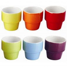'Colours' Egg Cup Set 120ml  Set Of 6