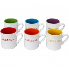 'Colours' 6pc Espresso Mini Mug Set