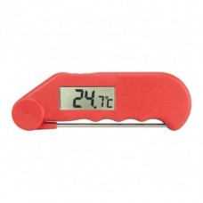 Gourmet Thermometer Water Resistant Thermometer with Folding Probe Red