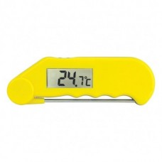 Gourmet Thermometer Water Resistant Thermometer with Folding Probe Yellow