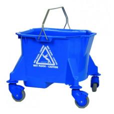 23L Mop Bucket on Wheels Blue