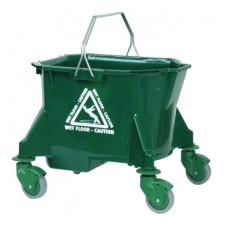23L Mop Bucket on Wheels Green