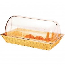 Basket Rectangular With Roll Top Cover