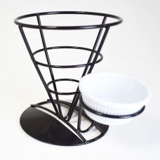 Black Display Cone And Ramekin Holder