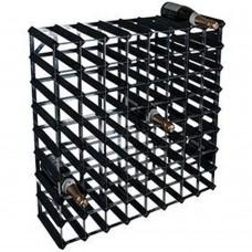 Wine Rack Kit 72 Btl 8'x8' Black Ash Pine