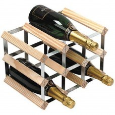Wine Rack Assembled 9Btl 3'x2' Natural Pine