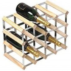 16Btl 4x3 Natural Pine / Assembled Wine Rack