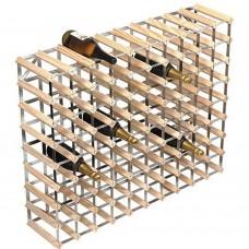 Wine Rack Assembled 90 Btl 10'x8' Natural Pine