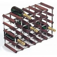 Wine Rack Assembled 30 Btl 6'x4' Dark Pine