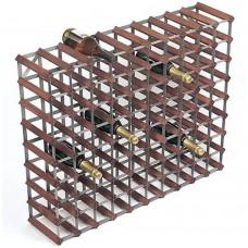 Wine Rack Assembled 90 Btl 10'x8' Dark Pine