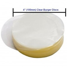 Burger Discs Round 100mm Clear Cellophane pack of 5000