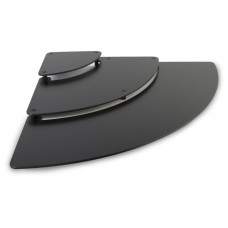 Riser Three Piece 1/4 Circle 800mm x 800mm x 65mm Black
