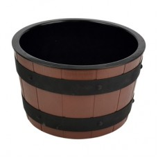 Barrel Bowl Set (Plain Melamine Insert) Dia250mm x 150mm 3.9Ltr