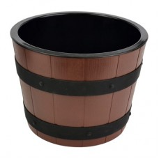 Barrel Bowl Set (Plain Melamine Insert) Dia265mm x 195mm 5.7Ltr