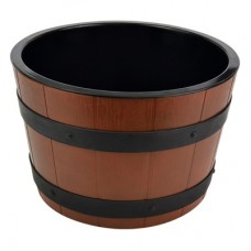 Barrel Bowl Set (Plain Melamine Insert) Dia 303mm x 195mm 8Ltr