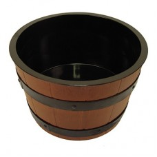 Barrel Bowl Set (Plain Melamine Liner) 307mm x195mm Insert 6.5Ltr