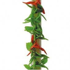 Garnish Red/Green Leaf  White Base 250mm
