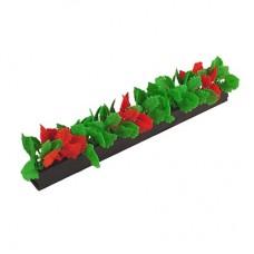 Garnish Red/Green Leaf Black Base 250mm