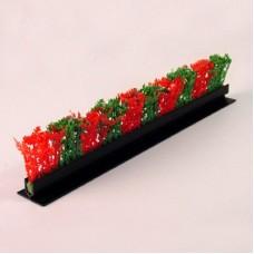 Garnish Red/Green Cypress Black Base 250mm