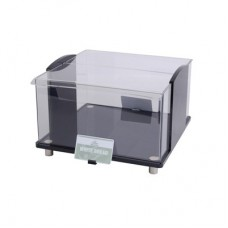 Display Bread Box Black Acrylic Top Open 320x300x188mm