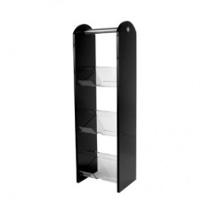 Condiment Stand Triple Black Acrylic 183mm x 147mm x 620mm
