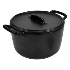 Black Stone Cast Effect Melamine Casserole Pot 228x180x119mm