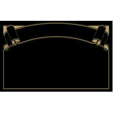 Black with Gold Print Banner Ticket 86mm x 54mm