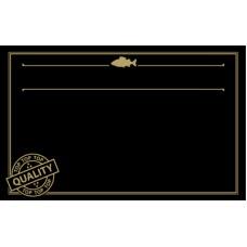 Black with Gold Print Premium Fish ticket 86mm x 54mm