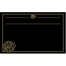 Black with Gold Print Premium Coffee ticket 86mm x 54mm