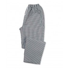 2397 CHEFS GINGHAM TROUSERS BLACK MEDIUM